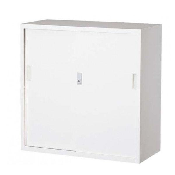 【送料無料】【代引き・同梱不可】【取り寄せ】 オフィス向け 一般書庫・ホワイト 3×3型引違書庫 3号鉄戸 COM-303D-W