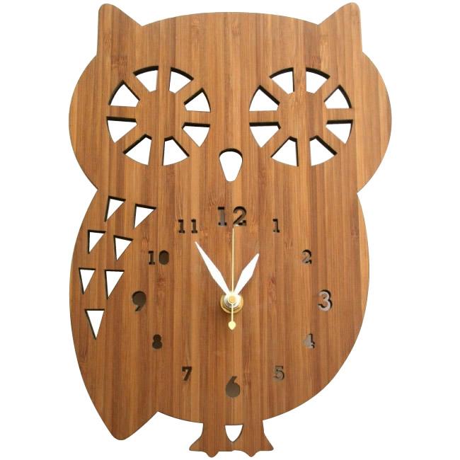 【送料無料】【代引き・同梱不可】【取り寄せ】 Made in America DECOYLAB(デコイラボ) 掛け時計 BUDDY OWL ふくろう BO