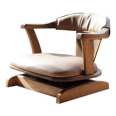 【送料無料】【取り寄せ】 日本製 ロータイプ回転座椅子 イージーロッキングチェア JTS01【代引き不可】