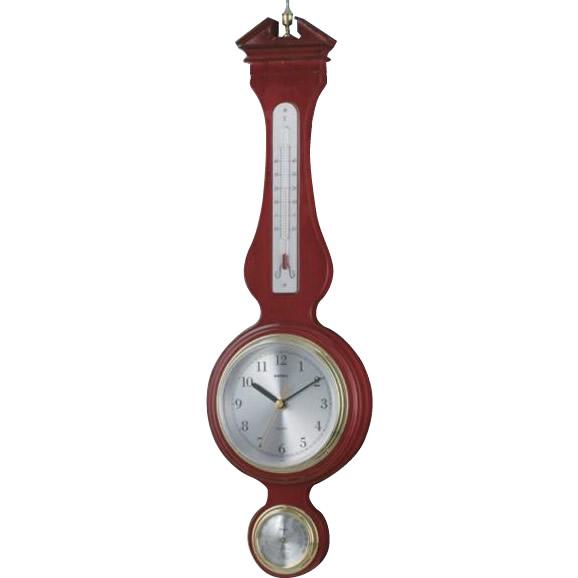 【取り寄せ・同梱注文不可】 EMPEX(エンペックス気象計) ウエストミンスター温度・湿度・時計 TQ-708【代引き不可】【thxgd_18】