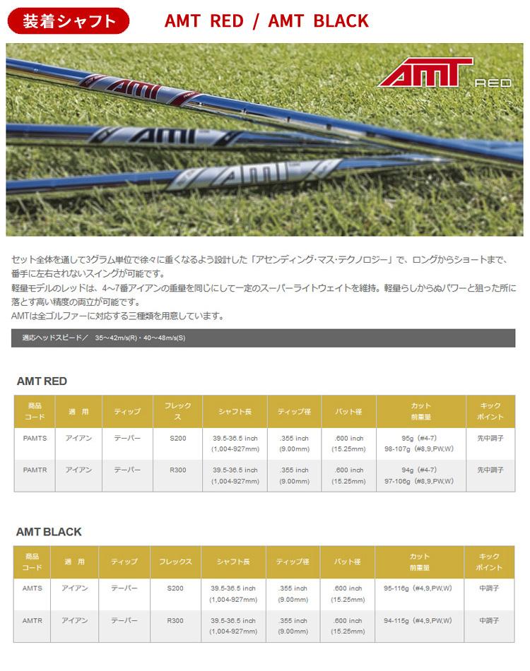 (特注品/納期約8週間)(レフティ) タイトリスト Tシリーズ アイアン T200 5本セット(#6-#9、P) AMT レッド / AMT ブラック(ゴルフクラブ)(Tシリーズ)