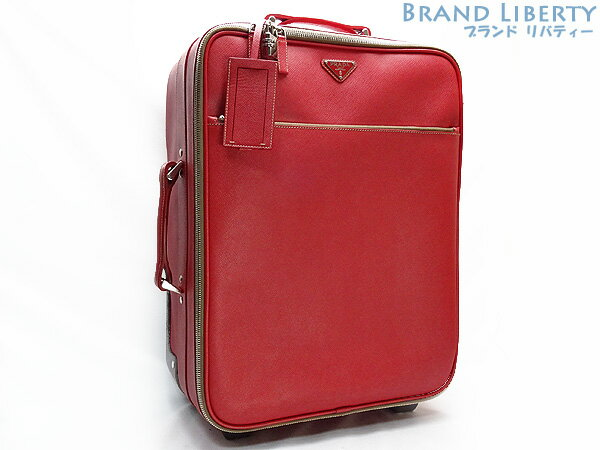 619ca5a71575 Prada PRADA saffiano trolley carry bag travel bag FUOCO (red) saffiano  leather VV030K ...