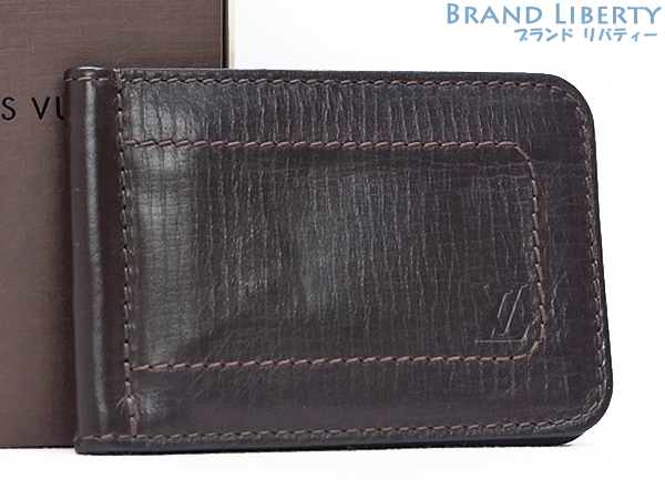 43778d129b With a money clip Louis Vuitton LOUISVUITTON Utah wallet Pan bi-fold wallet  purse Cafe Utah leather M95454