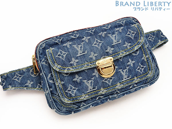 77a3723ef3d Louis Vuitton LOUISVUITTON monogram denim Bam bag body bag bum-bag blue  denim X leather M95347