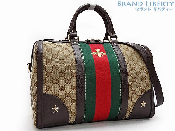 Gucci Gg Canvas Sherry Line Vintage Web B Embroidery Bag Bee 2way Mini Boston Handbag Shoulder 406868