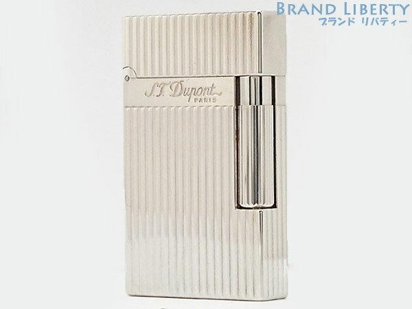 【超美品】デュポン S.T.Dupont ライン2 ヴァーティカルライン ローラーガスライター シルバー 真鍮 16817 【中古】