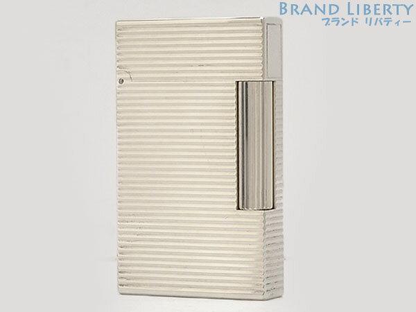【レア超美品】 デュポン S.T.Dupont ライン2 モンパルナス 横ライン ローラーガスライター シルバー 真鍮  【中古】