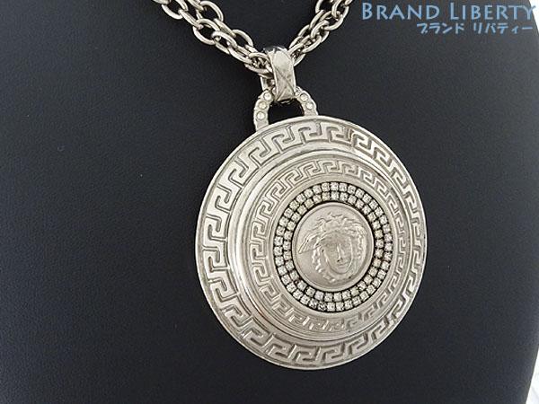 Brand liberty rakuten global market gianni versace gianni versace gianni versace gianni versace medusa pendant rhinestone chain necklace silver metal aloadofball Images