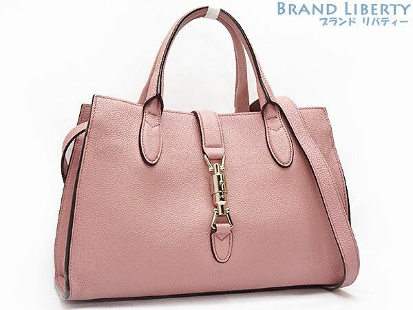 d8a0cc950665 Gucci GUCCI new Jackie 2WAY handbag tote bag shoulder bag pink beige grain  leather 365460 ...