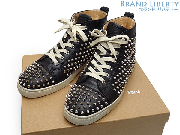 d45fddc4ed9 クリスチャンルブタン Christian Louboutin Louis Spikes Men's Flat spikes studs leather  higher frequency elimination sneakers men shoes shoes ...