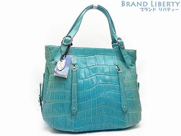 37d567a093e0 JRA ココジョカーレ COCO GIOCARE software crocodile tote bag handbag sapphire (blue  system) software ...