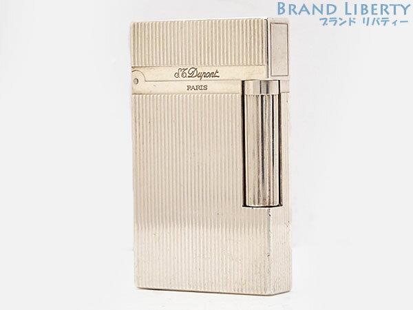 【レア快音】デュポン S.T.Dupont ライン2 モンパルナス ヴァーティカルライン ローラーガスライター シルバー 16514 【中古】