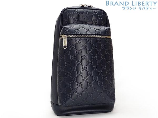 e243a4f4e3a Gucci GUCCI Gucci sima signature backpack body bag belt bag limited dark  navy-blue leather 450970 in Japan