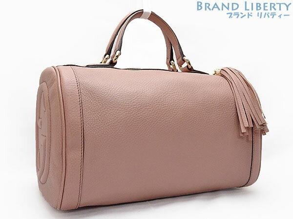 7507f9a5cba Handbag mini-Boston bag JAPAN EXCLUSIVE Japan-limited pink beige  calf-leather 282302 with the Gucci GUCCI SOHO CELLARIUS Soho interlocking  grip G fringe ...