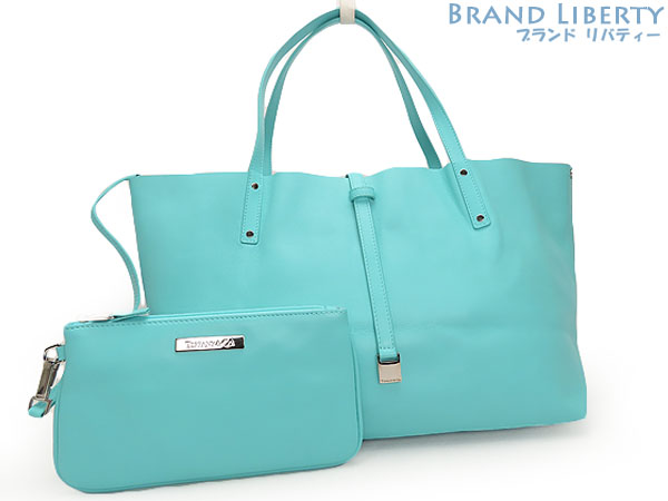 Tiffany Tiffanyco Blue With The Reversible Leather Tote Bag Shoulder Handbag