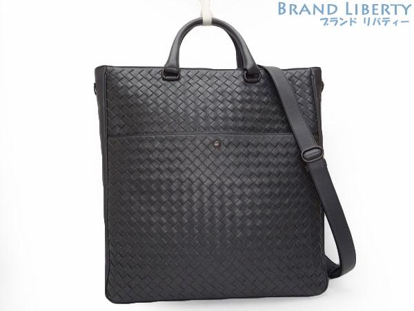 802741287 ボッテガヴェネタ BOTTEGA VENETA イントレチャート VN 2WAY tote bag handbag shoulder bag dark  gray calf ...