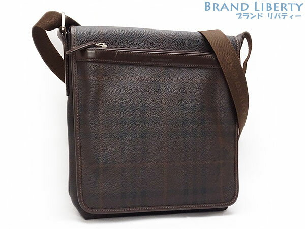 I take it, and shoulder bag messenger bag dark brown PVC X leather Italy is  made by Burberry BERBERRY London Haymarket check slant eb23b607a3