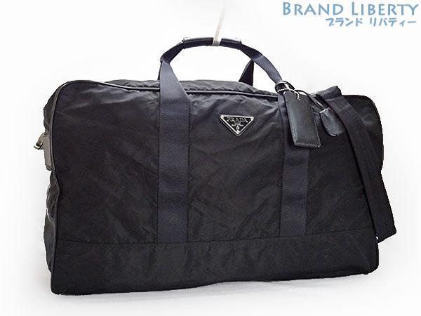 Prada Nylon 2way Boston Bag Handbag Travel Traveling Nero Black