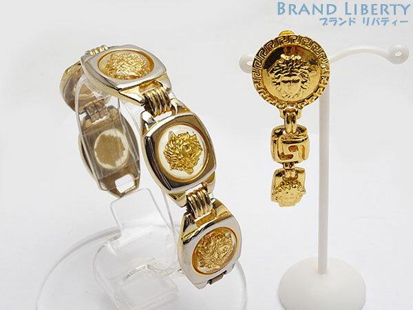 Gianni Versace Medusa Bracelet Earrings One Set Gold