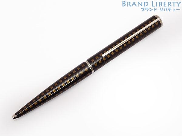 【新品同様】ルイヴィトン LOUISVUITTON ジェット・ラック ツイスト式 ボールペン インク黒 ブラック×メタリックブラウン×シルバー N79154 【中古】