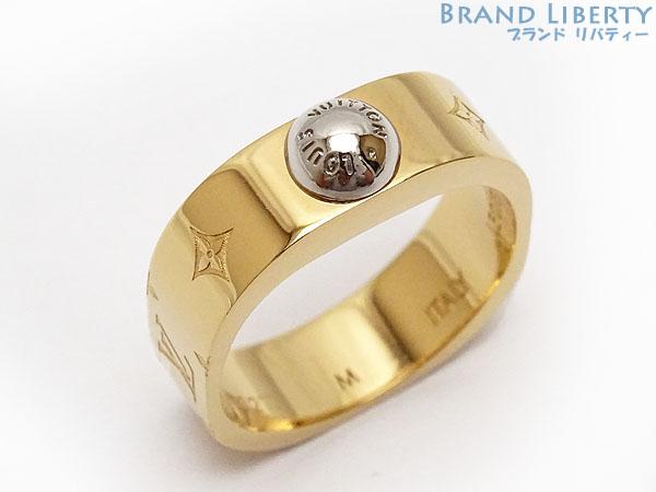【ほぼ新品】 ルイヴィトン LOUISVUITTON バーグ・ナノグラム リング 指輪 ゴールド メタル M00211 【中古】