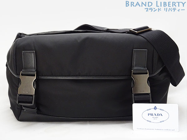 709d034ca03e Take Prada PRADA nylon city calf slant  shoulder bag messenger bag body bag  black nylon X calf-leather VA1064