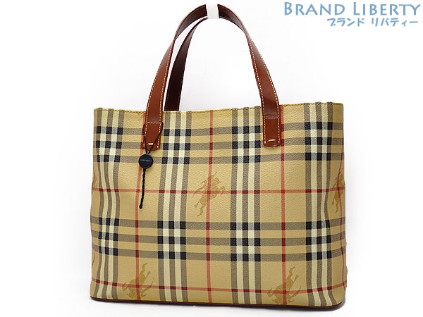 53dbe31a18e Product made in Burberry BERBERRY London Haymarket check tote bag handbag  beige X brown PVC X leather Italy