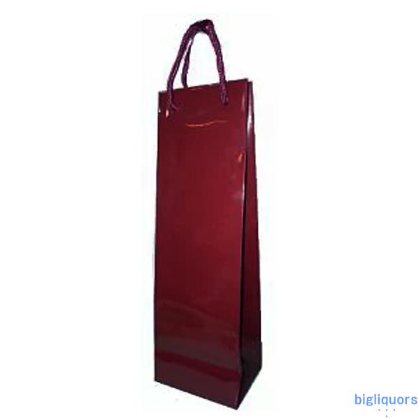 小瓶1本用 紙袋Bタイプ〔ワイン色/ツヤ有〕■3980■