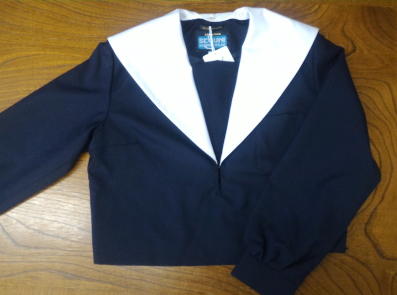 [別注品]冬 紺セーラー服 上着のみ 紺衿白ライン/衿カバー【ベーシック】【受注生産】【長袖】【国内縫製】【日本製】オーダーセーラー承ります