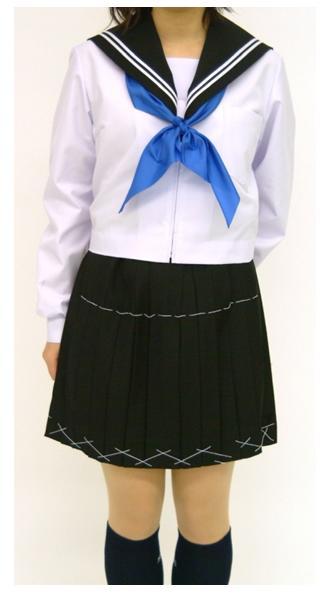 【別注用】紺衿 長袖セーラー服 上着のみ 紺衿白ライン5mm4本【長袖】【定番】【国内縫製】【日本製】オーダーセーラー承ります