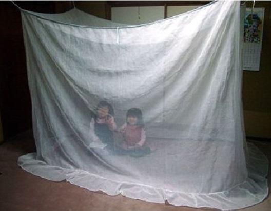 【越前蚊帳】120×230×165+25cm シングルベッドサイズ夏の冷房の風と蚊から守る【取寄せ】【smtb-TK】