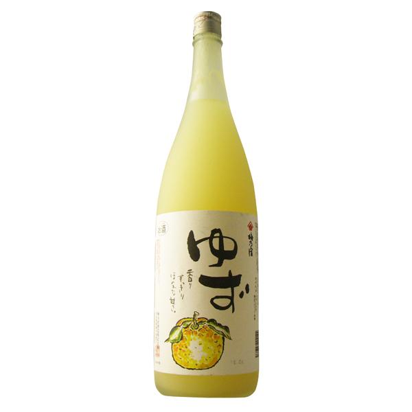 数多く出ている柚子酒の中でも定番中の定番です 至高 梅乃宿 買収 ゆず酒 奈良県 梅乃宿酒造 1800ml
