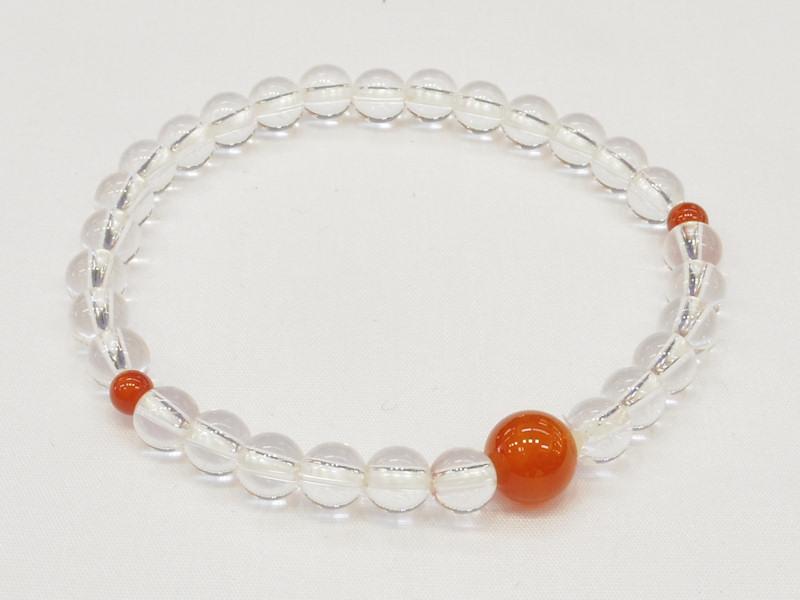 水晶ブレスレットミックス 半額 メノウ 国内正規品 アゲート 腕輪念珠 仕立