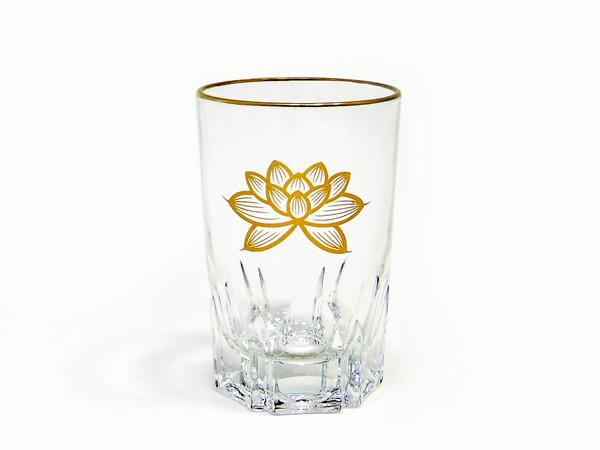 仏様にお供えするガラス製の茶湯器です 高品質 スーパーセール 茶湯器 ガラスコップ 上金 大 ハス