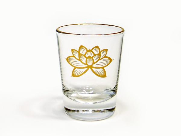 仏様にお供えするガラス製の茶湯器です 茶湯器 ガラスコップ ブランド激安セール会場 感謝価格 上金 ハス 小