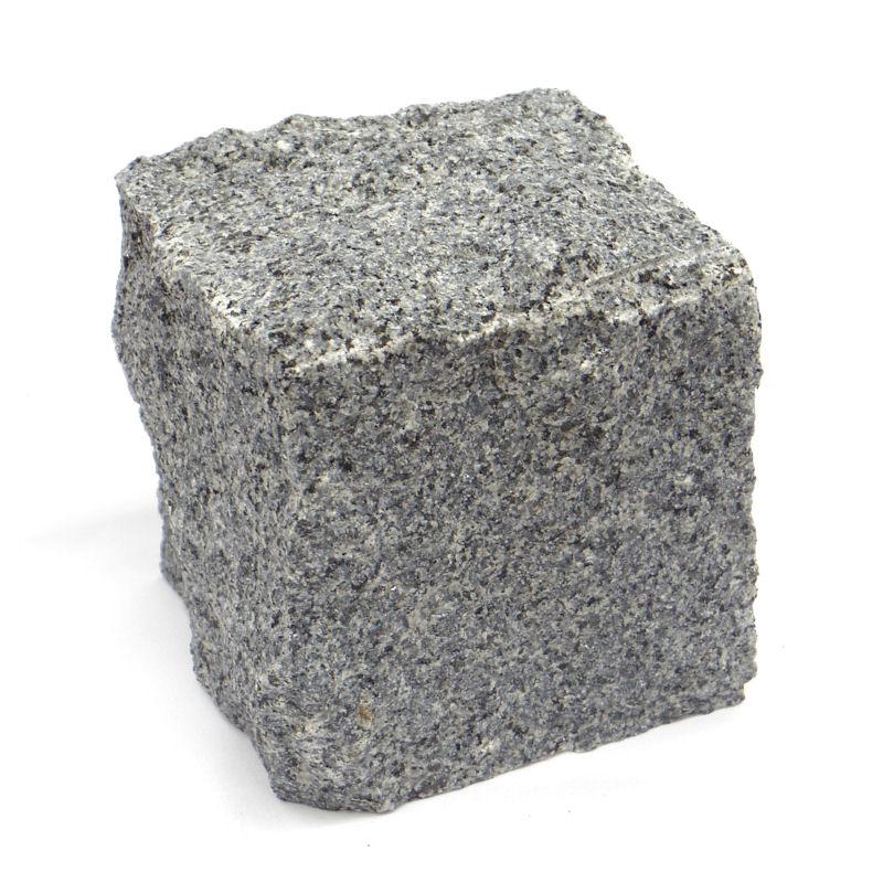 敷石に… 高価値 最安値 花壇の仕切りに… ピンコロ石 約90×90×90mm グレー色 御影石 割肌仕上げ 石材 1個から 1丁掛け みかげ石 ミカゲ石 単品