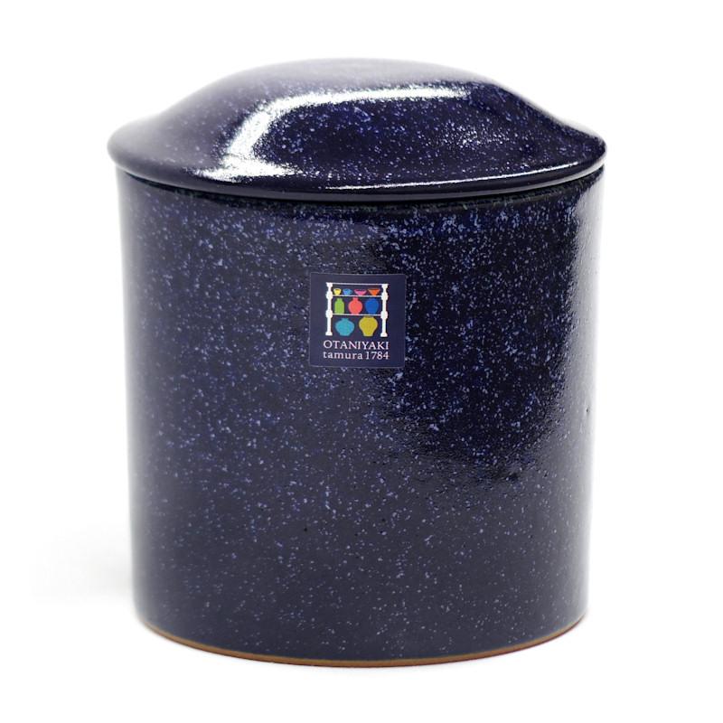 郷土の藍と土につつまれて 骨壺 大谷焼 3寸 蔵 藍色 ぶつだんのもりオリジナル from徳島 信憑 骨つぼ 骨壷