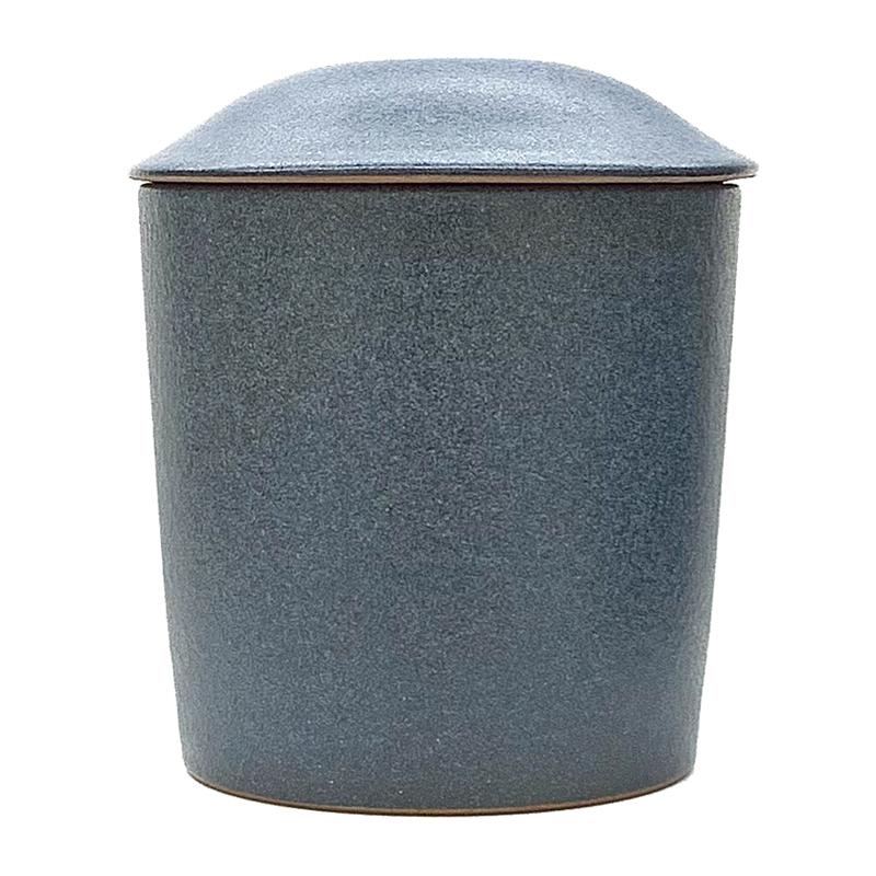 現品限り 骨壺 初回限定 大谷焼 3寸 藍鼠色 from徳島 骨壷 大放出セール ぶつだんのもりオリジナル あいねずいろ 骨つぼ