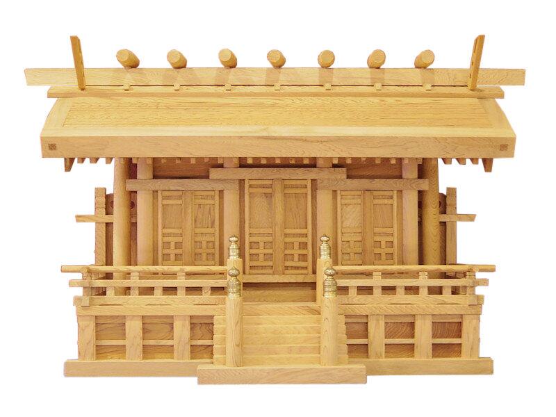【神棚】神殿 屋久杉 三社宮 たいこ屋根 2尺
