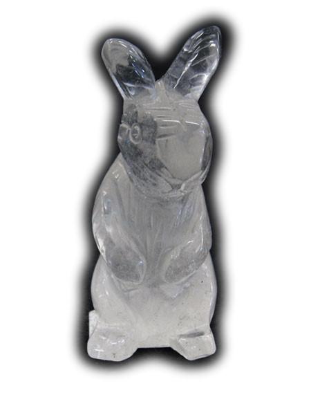 100%品質保証! 直営限定アウトレット ロッククリスタル 立ちウサギ
