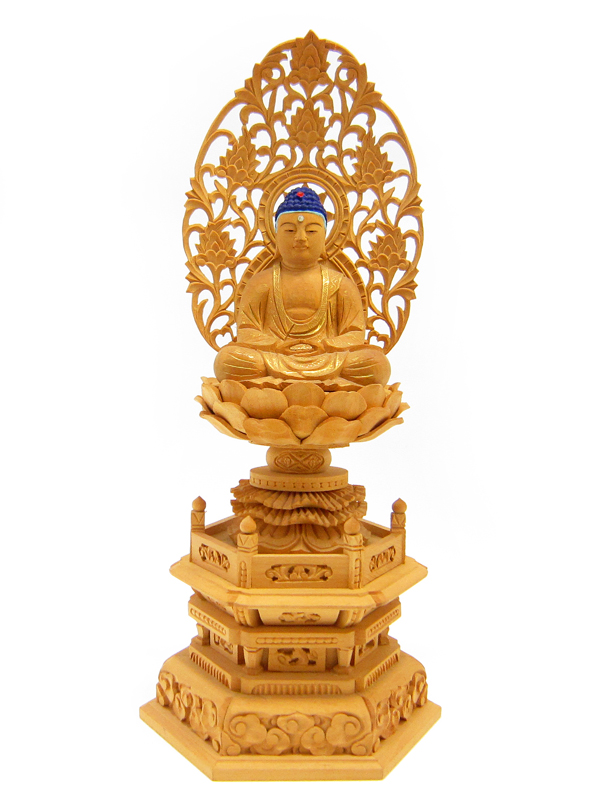 仏像 釈迦如来 白木 2寸【国内送料無料】