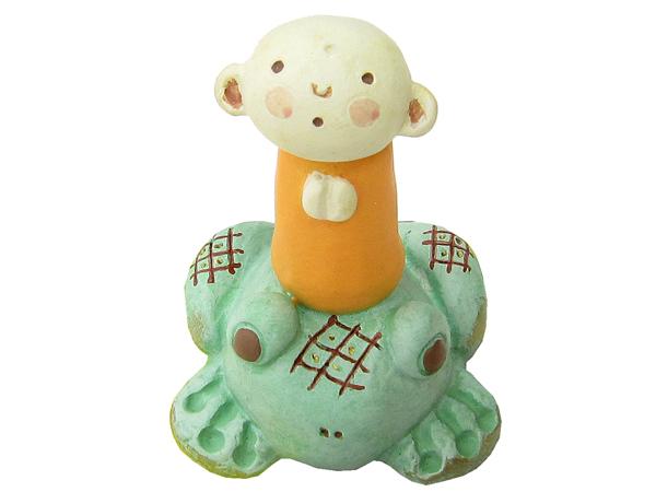 ☆かわいいお地蔵さんの小さい置物☆ 福福豆蔵 かえる 置物 好評受付中 お気に入り 家内安全 オブジェ
