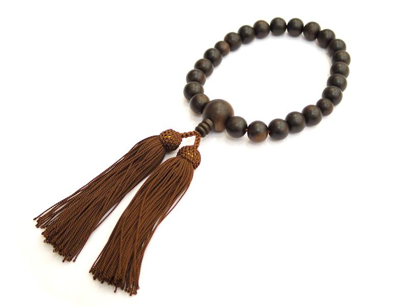 念珠 縞黒檀 素挽 正絹房 売れ筋 数珠 世界の人気ブランド