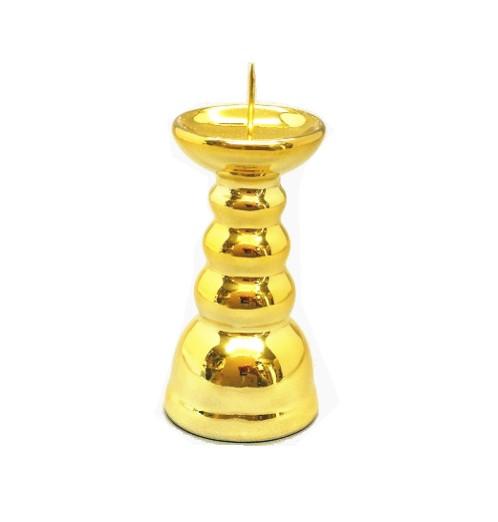 火立 無柄 金メッキ 2.5寸 燭台 ローソク立
