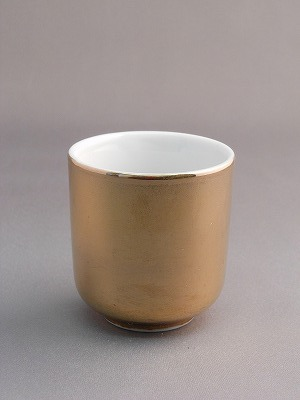 ■各種仏壇用の湯呑 陶器製■総金の湯呑 100%品質保証! 湯呑 総金 1.6寸 新着