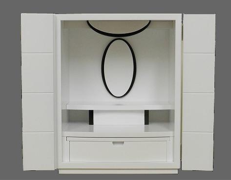 18号 ブラック&ホワイト ホワイト ■Back&White White■[ミニ仏壇][家具調仏壇][モダン仏壇][現代][小型上置型]【smtb-kD】