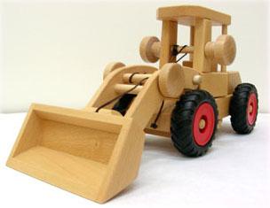 ホイールローダー fagus ファーグス 木製 木のおもちゃ はたらくくるま 自動車 積み木 知育玩具 脳トレ インテリア ギフト プレゼント お祝い【宅配便配送】 送料無料
