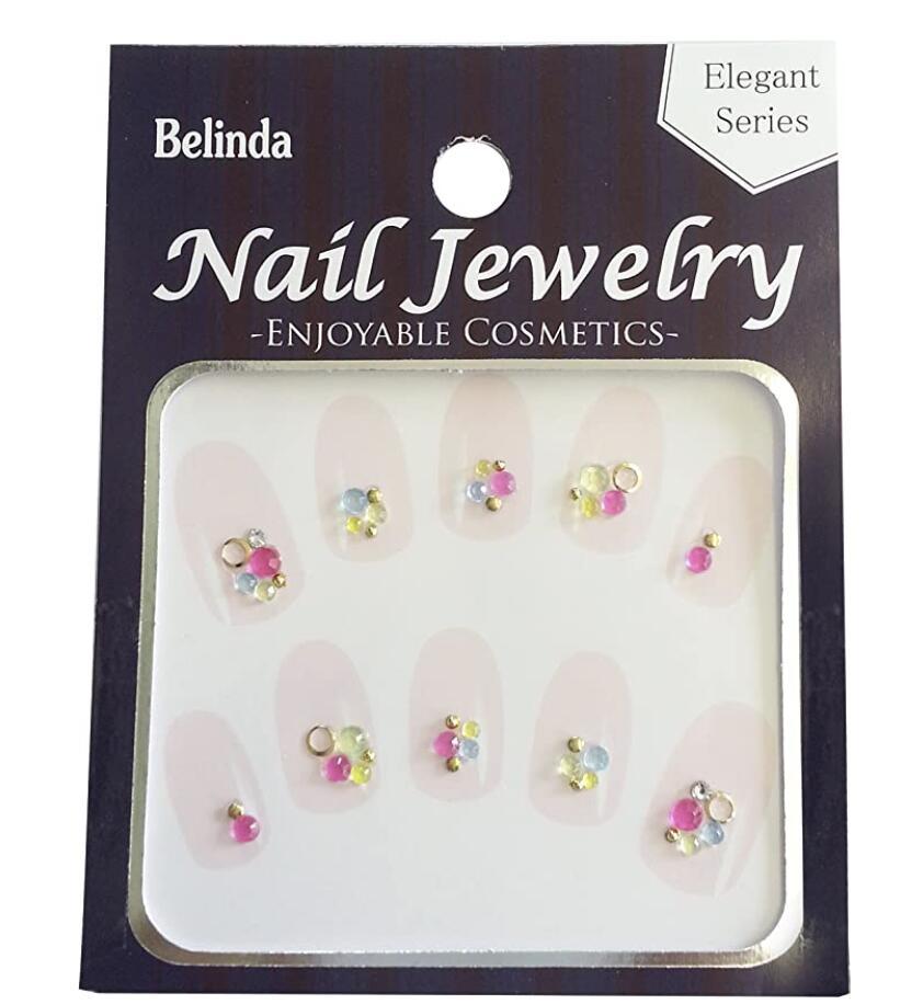 自分の爪に貼るだけで ネイルサロンに行ったようなエレガントなネイルやかわいいネイルが簡単にセルフでできるネイルストーンシールです 激安 Belinda Nail Jewels 豊富な品 2個セット No.416