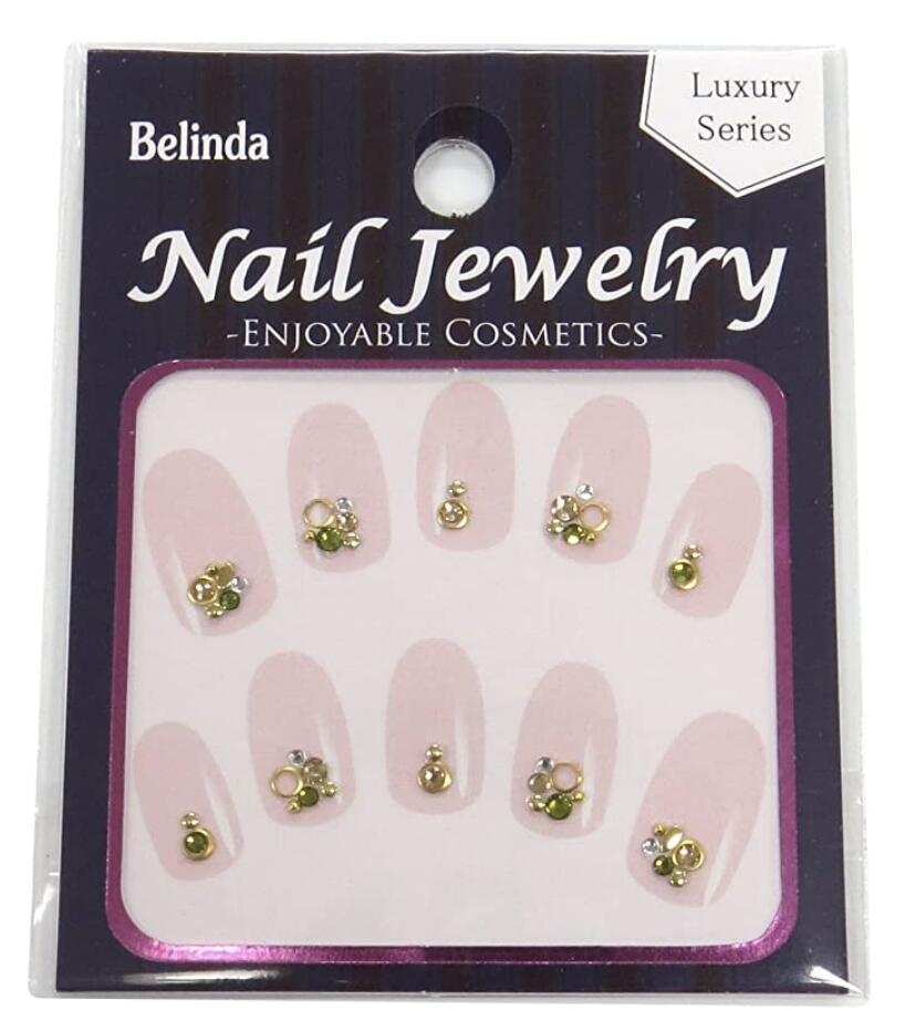 奉呈 自分の爪に貼るだけで 付与 ネイルサロンに行ったようなエレガントなネイルやかわいいネイルが簡単にセルフでできるネイルストーンシールです Belinda Nail No.680 Jewels 2個セット