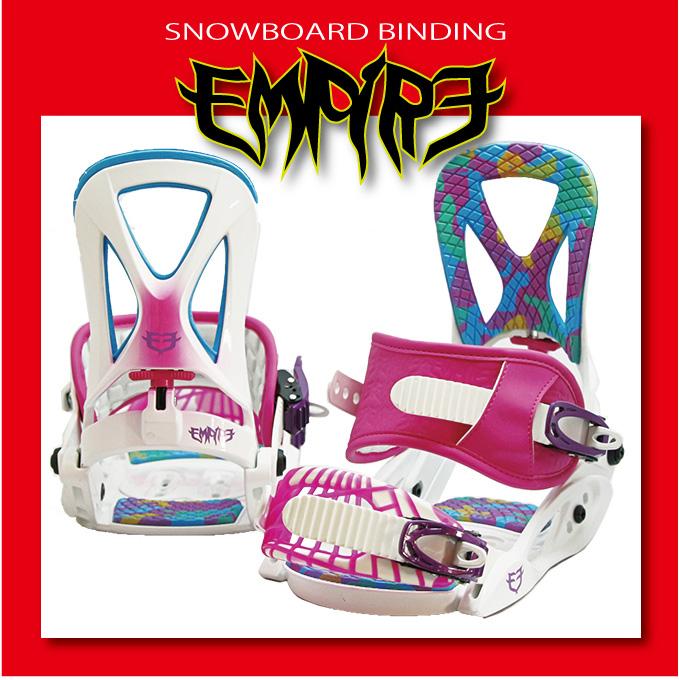 スノーボード ビンディング EMPIRE 05 - White Pink
